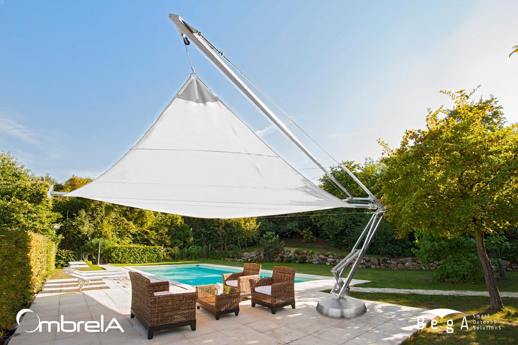 Design Sonnenschirme segelschirm ombrela mehr als ein motorisierter sonnenschirm bega